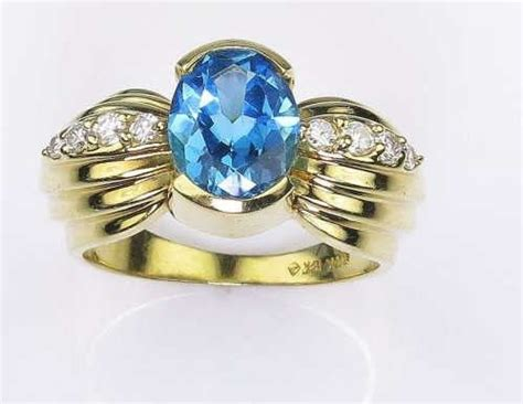 Swiss Blue Topaz 12 33 Carat stunning swiss blue topaz and ring created in