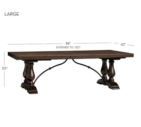 Square To Rectangular Extending Dining Table Lorraine Extending Dining Table Pottery Barn