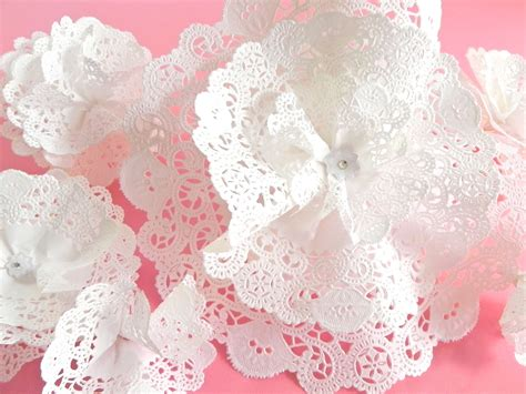 How To Make Paper Lace - diy paper lace flower cake food picks or table decor