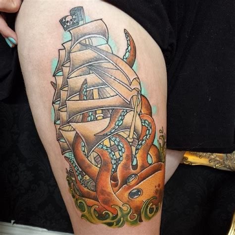 pirate ship tattoo meaning traditional ship tattoos designs ideas and meaning