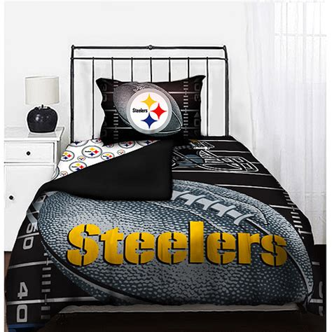 steelers bedroom nfl steelers bedding set bedding walmart com