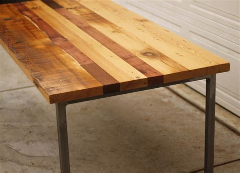 reclaimed wood and metal dining table arbor exchange reclaimed wood furniture patchwork table
