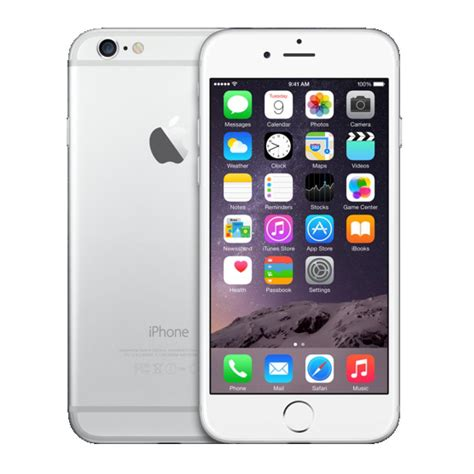 apple iphone 6 128gb verizon silver smartphone a1549 4g ios 8 cdma no contract mobile cell phone