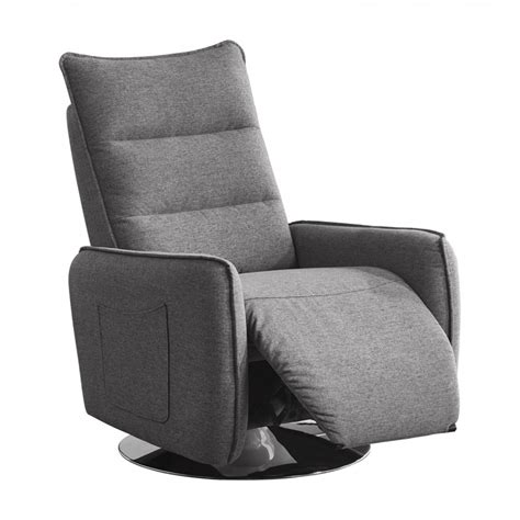 Modern Fabric Recliners by Divani Casa Fairfax Modern Grey Fabric Recliner Chair Reclining Chairs Recliners Living Room