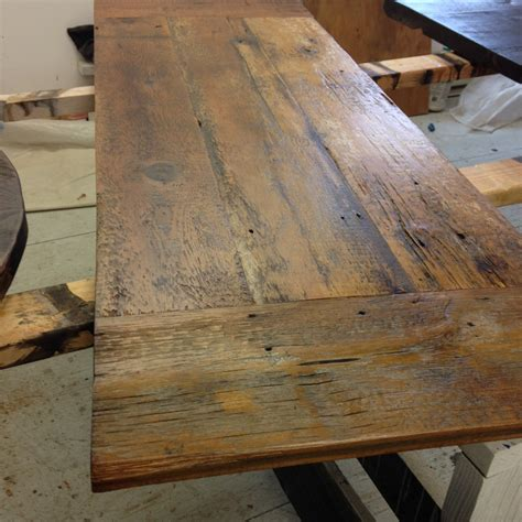 Wood Legs For Kitchen Island by Reclaimed Wood Desk Top Legs Not Included For This Listing