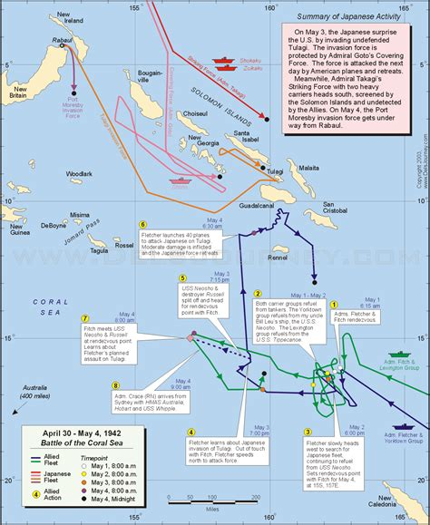 coral sea map may 4 the battle of the coral sea today in history