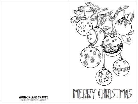 yule card template crafts template