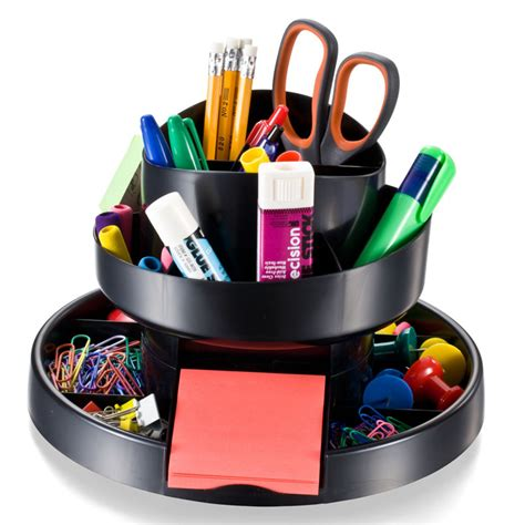 Rotary Desk Organizer Recycled Deluxe Rotary Organizer Black