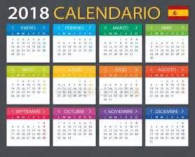 Calendario 2018 En Español Vectores De Stock De Calendario 2018 Espa 241 Ol