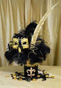 black and gold centerpieces ideas by mardi gras outlet black gold masquerade