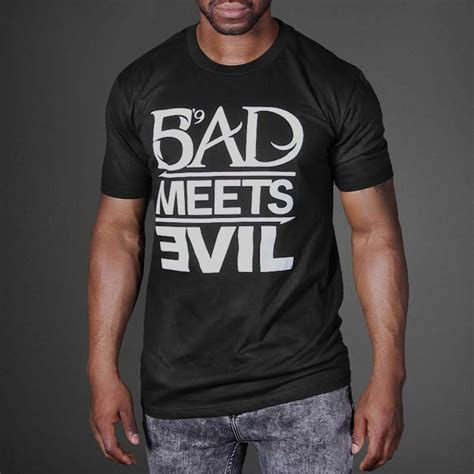 Kaos Bad Meets Evil Eminem bad meets evil t shirt wehustle menswear womenswear