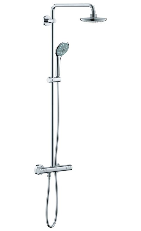 Grohe Shower Set by Grohe Euphoria Thermostatic Chrome Plated Shower Set