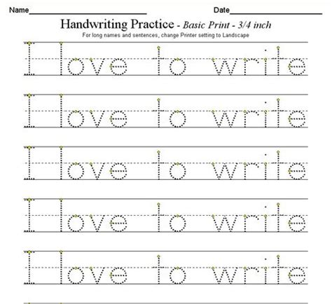 handwriting templates for preschool 7 best images about handwriting on
