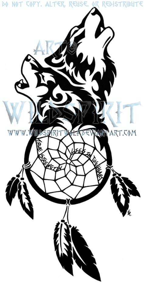 tribal dreamcatcher tattoo designs 25 dreamcatcher wolf designs images and pictures