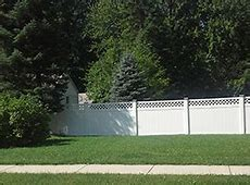 Vinyl Privacy Fence with Lattice Top   PVC Privacy Fence ... W Home Depot Order Status