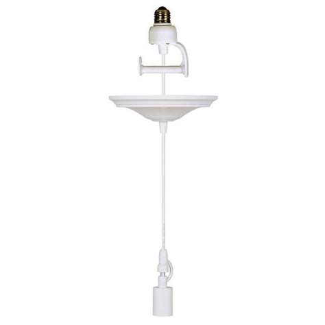 Home Decorators Collection 8 In White Pendant Adapter For Pendant Light Adaptor