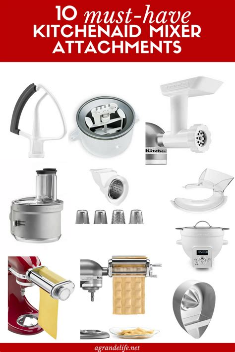 10 Must Have KitchenAid Mixer Attachments   A Grande Life