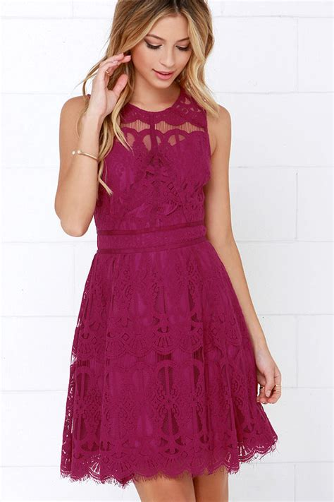 Dress Megita magenta dress lace dress 115 00