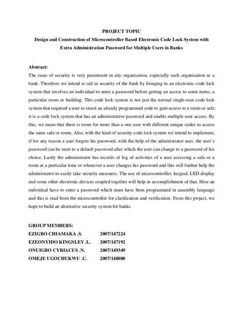 apa abstract page template sle project abstract