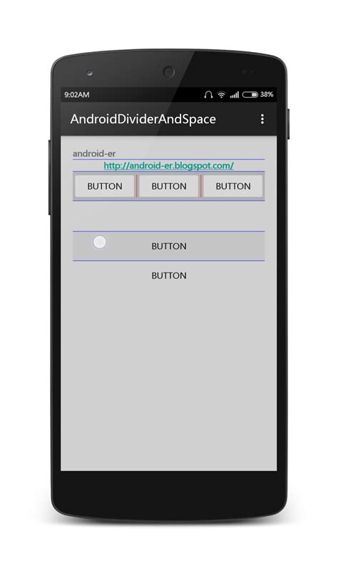 layout android divider android er divider and space