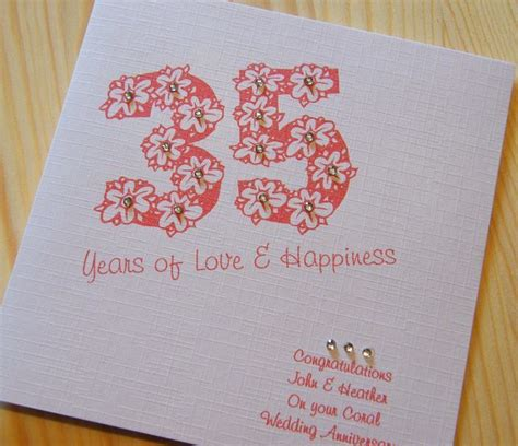 Coral Wedding Anniversary Card Husband by Wedding Anniversary Gifts Wedding Anniversary Gifts Coral