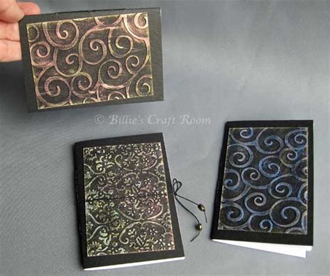 Creative Handmade Book Covers - delightful handmade books with shimmering colours billie