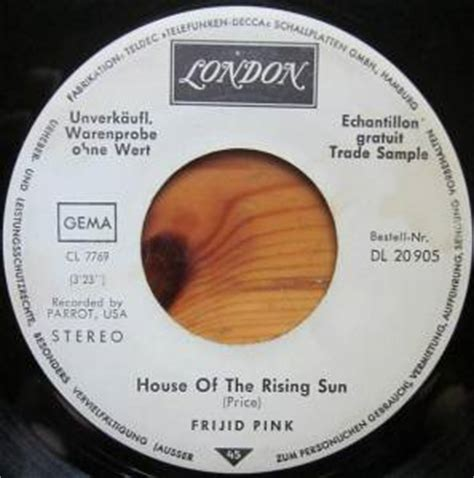 frijid pink house of the rising sun frijid pink the house of the rising sun promo 7 quot 1970