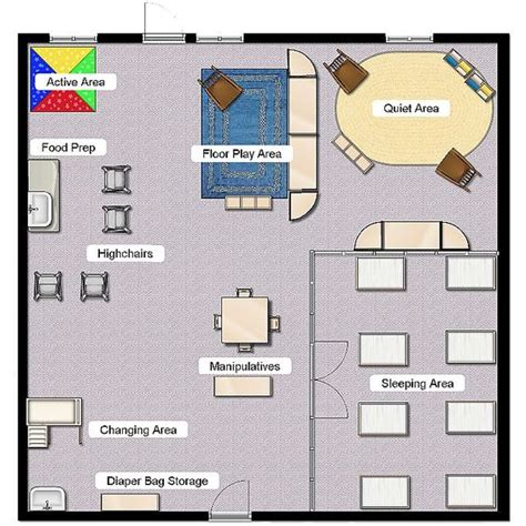 childcare floor plans infant class layout classroom layout pinterest plays