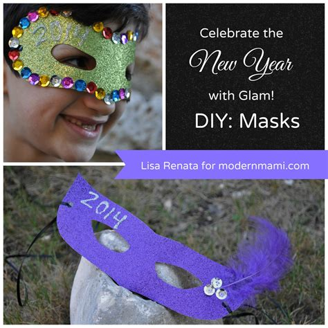 new year children s masks celebrate the new year with diy new year s glam masks