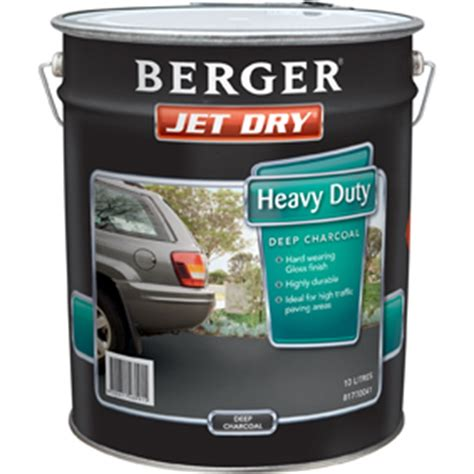 berger jet 10l heavy duty charcoal paving paint i n 1410011 bunnings warehouse