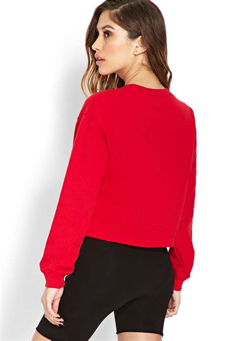 Hm Blouse Abstrak Ig forever 21 notorious b i g cropped sweatshirt in lyst