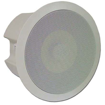 choice select 6 5in ceiling speaker w back cover white pair