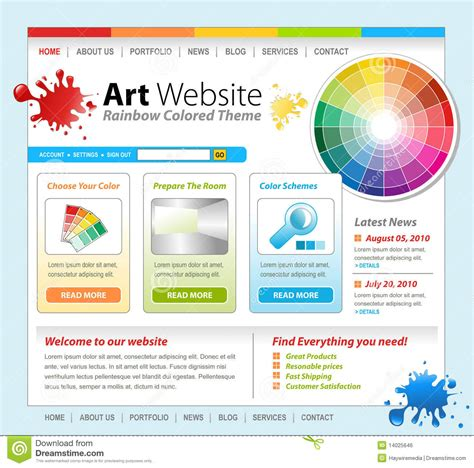 free drawing websites creative paint website template design royalty free