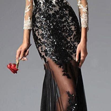 Bj 9609 V Neck Sweater Dress sleeve evening dresses 2017 v neck floor length