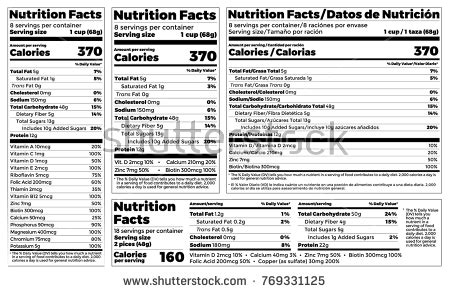 supplement facts label design requirements fact stock images royalty free images vectors