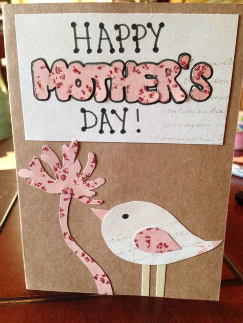homemade mothers day card pinterest