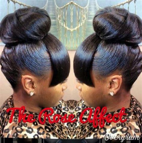 braids with a weave bang mommy loved this look bun bangs since the 70 s hair