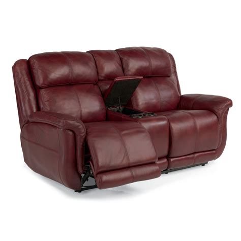 Flexsteel Reclining Loveseat by Flexsteel 1251 604p Brookings Leather Power Reclining