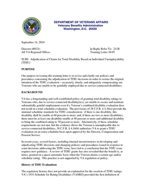 What Does Va Award Letter Look Like Disability Letter Template Letter Template 2017