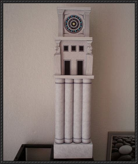 papercraftsquare new paper craft clock tower