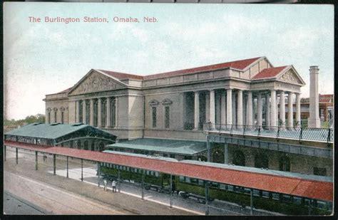 omaha ne burlington railroad station depot vtg postcard ebay
