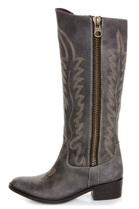 embroidered cowboy boots steve madden graced black leather embroidered cowboy boots