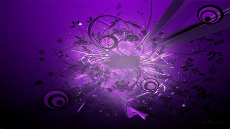 wallpaper cantik purple abstract art hd widescreen 68