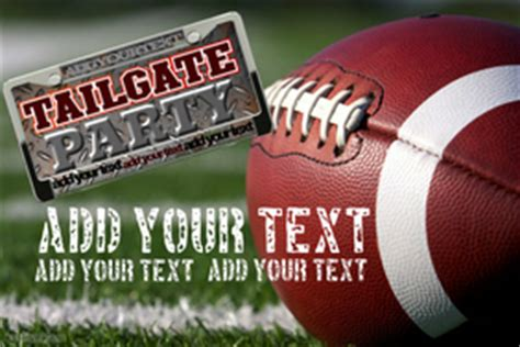 Football Poster Templates Postermywall Free Tailgate Flyer Template
