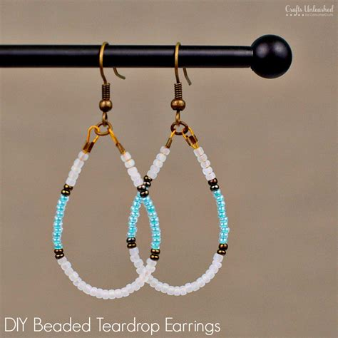 Beaded Earrings diy beaded earrings teardrop tutorial crafts unleashed