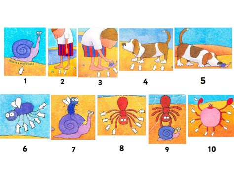 one is a snail one is a snail ten is a crab eyfs reception addition recording maths problems counting