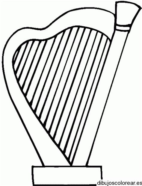 irish instruments coloring page dibujo de un arpa