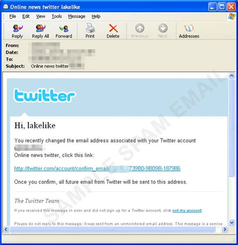 Bogus Twitter Spam Hits Inboxes Trendlabs Security Intelligence Blog Spam Warning Email Template