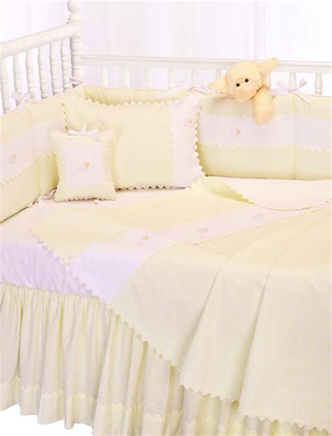 Embroidered Crib Bedding Embroidered Sheep Crib Bedding By Blauen