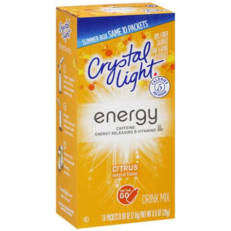 energy drink packets light on the go citrus energy drink mix packets
